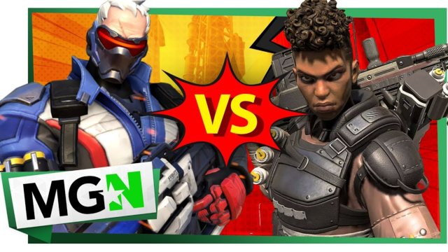 Apex Legends VS Overwatch: Bangalore Meets Soldier 76 | Games on Queue | MGN (2019)