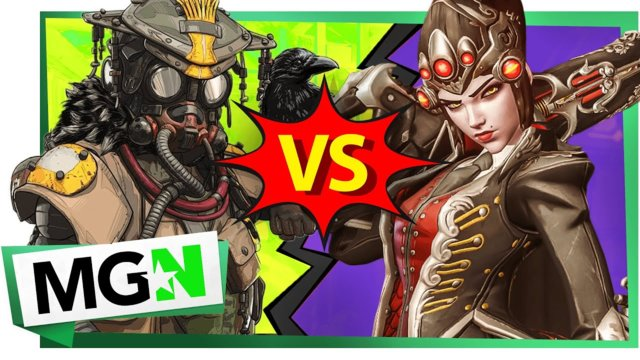 Apex Legends VS Overwatch: Bloodhound spots Widowmaker! | Games on Queue | MGN (2019)